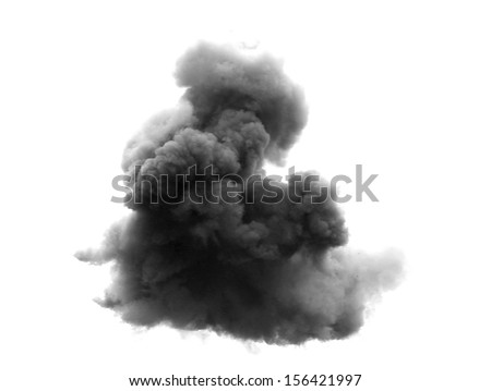 dense black cloud with a blanket of smoke