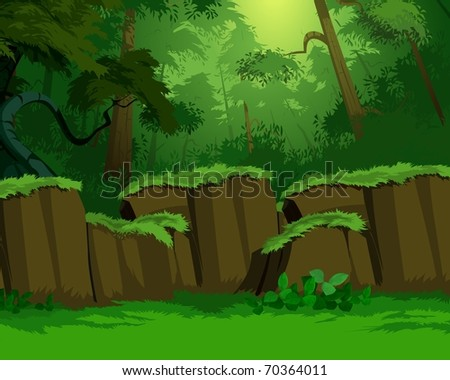dense forest illustration