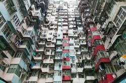Dense residential building in Hong Kong
