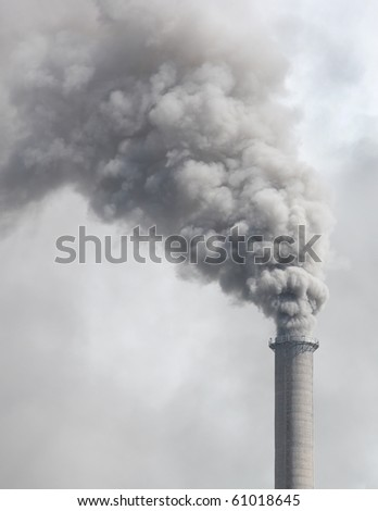 Dense smoke from a chimney