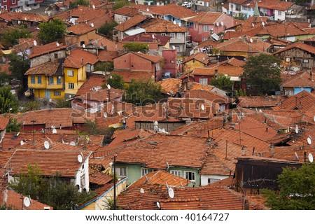 Densely populated area of Ankara, Turkey