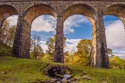 Dent Head Viaduct is the next viaduct on the Settle-Carlisle Railway after Ribblehead Viaduct, going towards Carlisle.