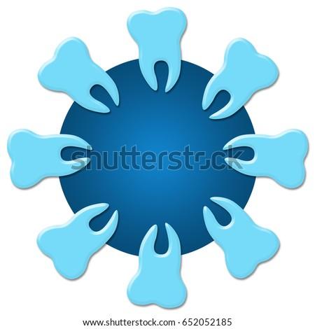 Dental Care Teeth Concept Circular