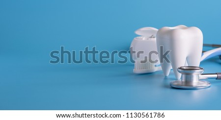 Dental concept healthy equipment  tools dental care Professional  banner #1130561786