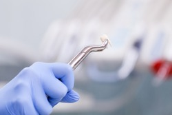 Dental instrunemt for tooth extraction