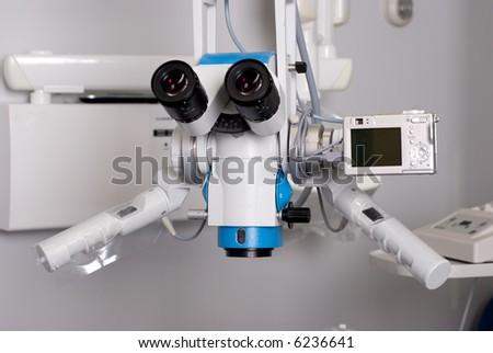 dental microscope with digital camera