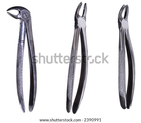 Dental pliers with clipping path