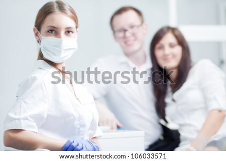 Dentist and young couple
