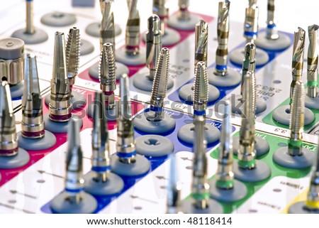 Dentistry. Dental implantation surgical set