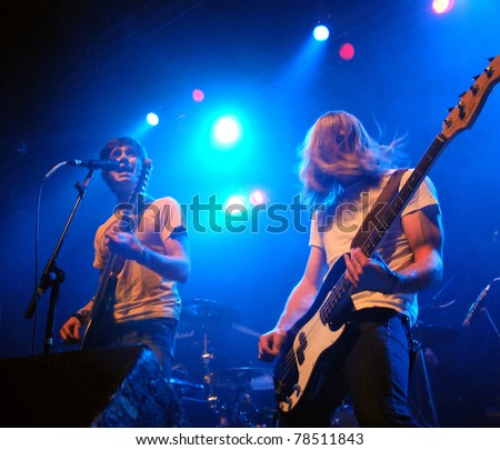 DENVERAPRIL 21:Alternative Rock band Madam Adam performs in concert April 21, 2011 at the Ogden Theater in Denver, CO.