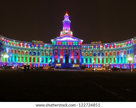 denver city and county building on christmas eve