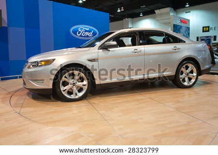 DENVER, CO - APRIL 5: The newly designed Ford Taurus  is one of several 2010 models featured at the Denver Auto Show April 5, 2009 in Denver, CO.