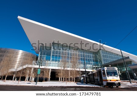 Denver, Colorado-December 6, 2011: Colorado Convention Center in Downtown Denver. #173479781