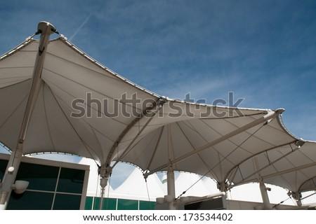 Denver, Colorado-March 28, 2012: Modern architecture at the Denver International Airport, Colorado. #173534402