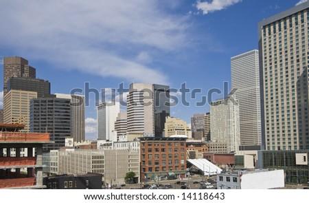 Denver, Colorado seen early afternoon