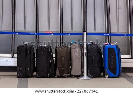 Denver, Colorado, USA-November 2, 2014. Denver International Airport on typical Sunday morning. - Shutterstock ID 227867341
