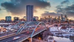 Denver, Colorado, USA Skyline Aerial.