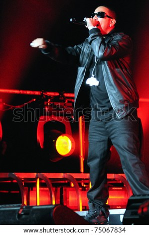DENVER-MARCH 27: Rapper Ludacris performs in concert on March 27, 2010 at the Pepsi Center in Denver, CO.