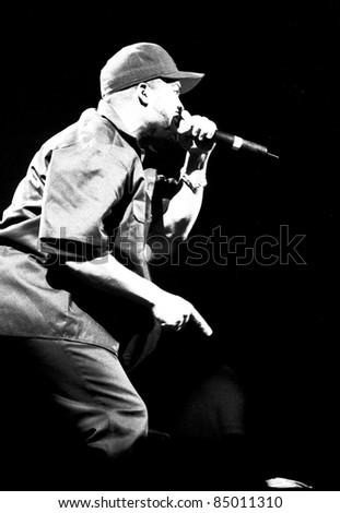 DENVER - OCTOBER 6:Rapper Ice Cube performs in concert October 6, 1998 at McNichols Arena in Denver, CO.