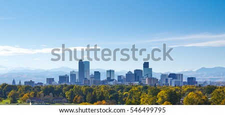 Denver skyline at noon
