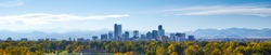 Denver Skyline at Noon Panorama
