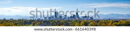 Denver Skyline at Noon Panorama