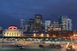 Denver Skyline in Twilight
