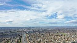 Denver Skyline via Northglenn Aerial (drone)
