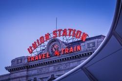 Denver Union Station at Dusk