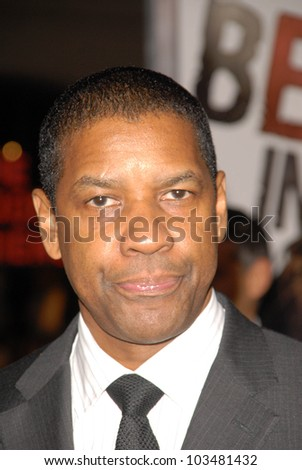 Denzel Washington at 'The Book Of Eli' Premiere, Chinese Theater, Hollywood, CA. 01-11-10 - stock photo