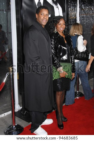 Denzel Washington & wife at an industry screening for his new movie \