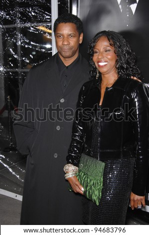 "Denzel Washington & wife at an industry screening for his new movie ""American Gangster"" at the Arclight Theatre, Hollywood. October 30, 2007  Los Angeles, CA Picture: Paul Smith / Featureflash"