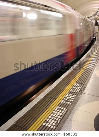 departing tube - mind the gap