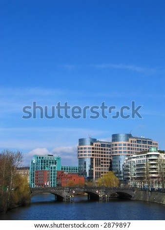 department of the interior in Berlin, Germany and the river Spree