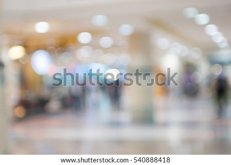Department Store , Shopping mall blur background with bokeh #540888418
