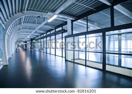 departure corridor in Amsterdam airport