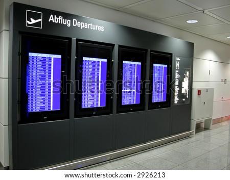 departure display panel at airport