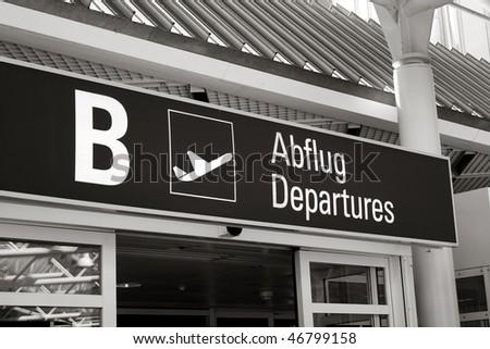 Departure hall of Munich International airport, Germany