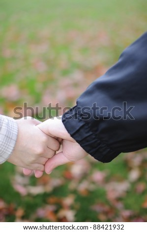 Depend each other - stock photo
