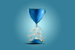 Deposit or investment. Growth of the dollar. Hourglass
