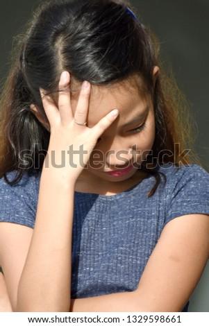 Depressed Beautiful Diverse Female