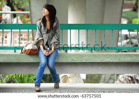 depressed emo girl. stock photo : depressed