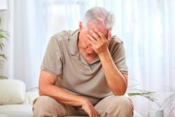 Depressed old man.