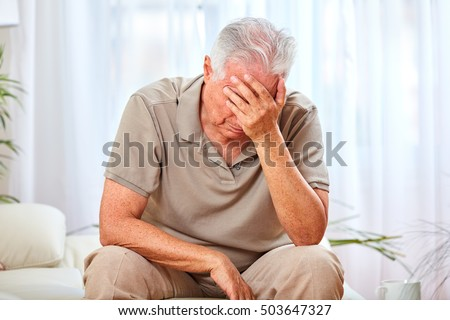 Depressed old man. #503647327