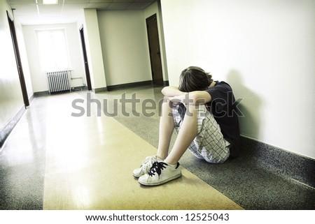 Depressed Teenage Boy