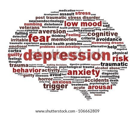 depression symbol concept isolated on white background