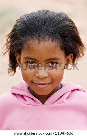 Deprived African children, village near Kalahari desert, people diversity series