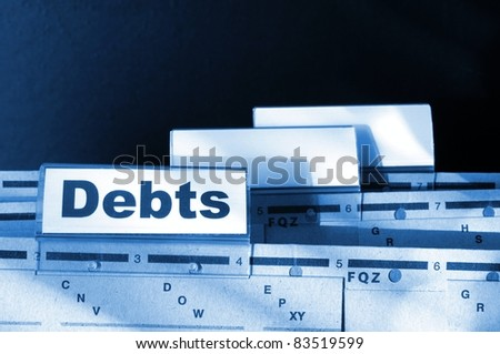 dept word on business folder showing finance or financial concept