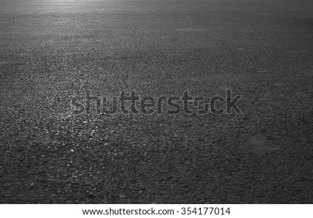depth of horizontal asphalt road view