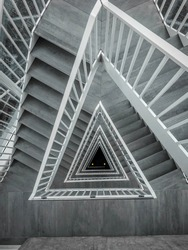 Depth triangle staircase